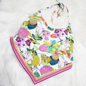 Trina Turk Key West Botanical Floral Swimsuit Top